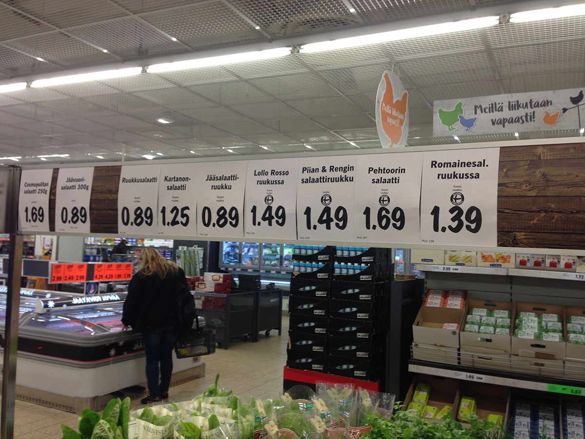 Supermarkt in Finnland